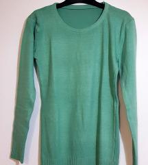 Ženska vesta/tunika mint zelene boje
