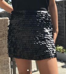 Zara kožna suknja s ljuskicama M/L