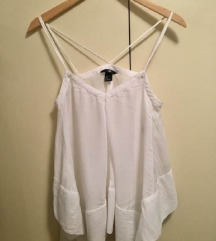 Bijeli lepršavi H&M top/majica