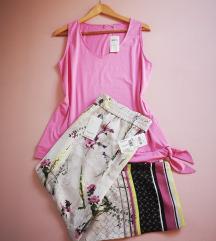 Šarene hlače i odgovarajući pink top - 42