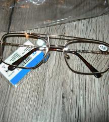 Dioptrijske naočale +2.00 +futrola NOVO!!!