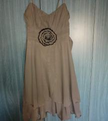 Svečana haljina maslinasto zelena