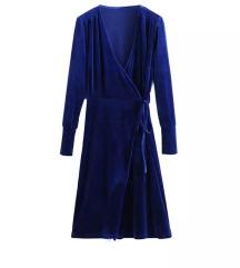 VADIM - Baršunasta plava haljina