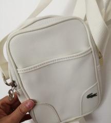 Bijela Lacoste torbica, original
