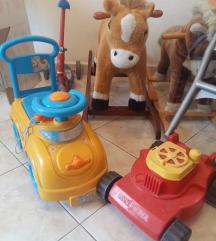 konjić, kosilica, autić, 2 kom sjedalice, romobil