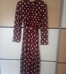Točkasta midi haljina like Zara