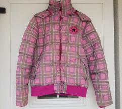 Converse roza karirana jakna