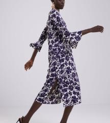 Zara haljina cvjetna midi s volanima