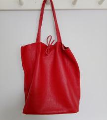 Crvena kožna torba, NOVO s etiketom