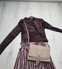 Lot suknja, majica i torbica NOVO