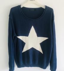 Tamnoplavi pulover sa zvjezdom vel S/M