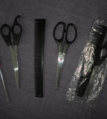 set za šišanje - češalj i škare
