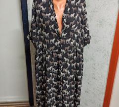Midi haljina sa zebrama