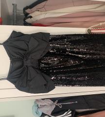 Crna sljokasta haljina Zara