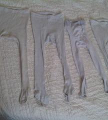 Lot od 4 bijela hulahopa/štrampli za bebe