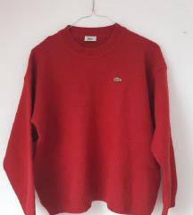 LACOSTE original crveni pulover vesta