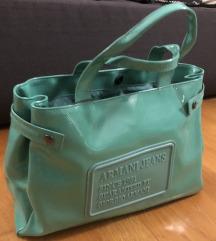 Armani Jeans lakirana mint torba