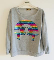 Kao nova siva sweatshirt vel M