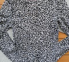 Poluprozirna leopard majica H&M