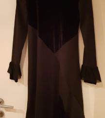 Crna rastezljiva posebna haljina