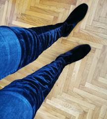 Bershka crne čizme preko koljena