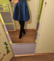 Kraljevsko plava scuba suknja
