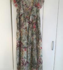duga cvijetna haljina s/m