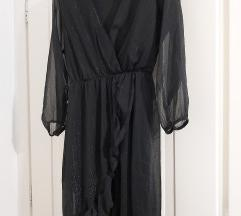 Haljina crna na preklop