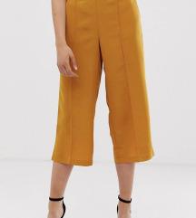 Culottes hlače boje senfa