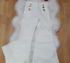 Bijele trapez hlače