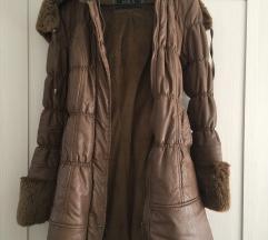 Kožna zimska jakna sa krznom/SNIŽENJE