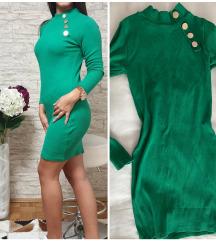 Zelena uska haljina uni