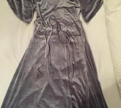 Zara siva barsun haljina