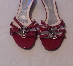Pollini crvene srebrne natikače sandale