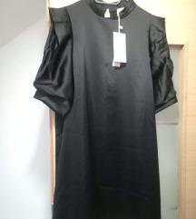 Crna haljina siroki rukavi