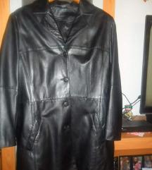 Crna jakna,prava koža,vel.44-30 kn