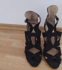 Zara crne cipele na visoku petu