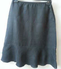 Crna suknja lan 36 Benetton