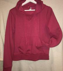 H&M roza hoodie majica