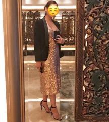 Zara rosegold šljokičasta haljina 👗
