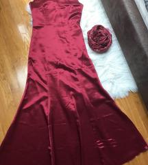 ❤️ŠIVANA❤️unikat satenska haljina+rukavice