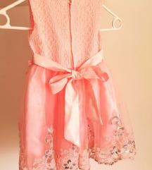 Nova roza haljina za curice vel. 90