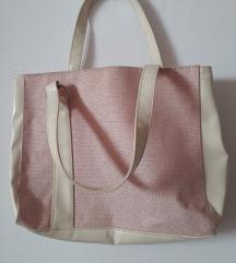 oriflame roza/bež torbica