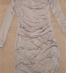 haljina mini siva