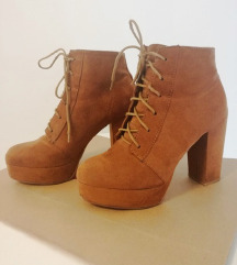 Camel H&M ankle boots