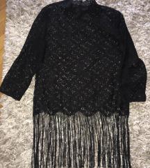 Zara čipka košulja S s resama