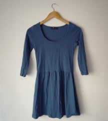 Plava skater haljina