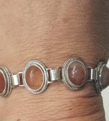 Vintage narukvica srebro morganit