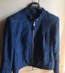 Modra jakna- brušena koža