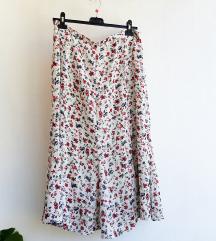 Cvjetna suknja s volanima